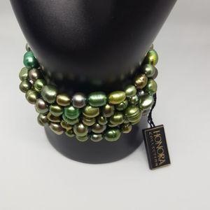 Cultured Pearl 5 Bracelet Set